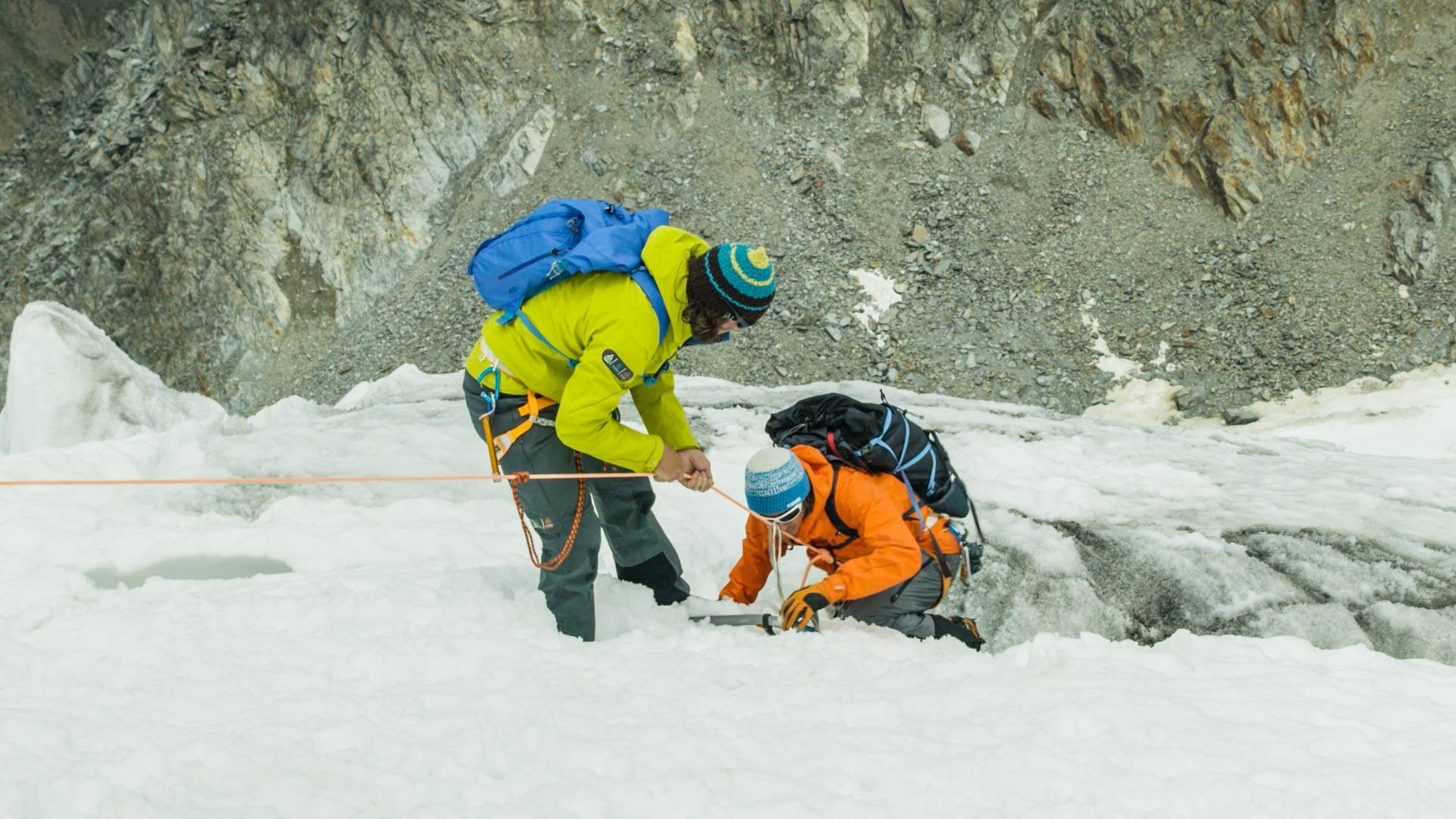 Rettung Aus Der Gletscherspalte